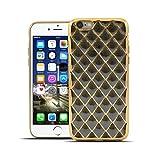 HULI Diamond Case Hülle Schwarz für Apple iPhone 6 / 6s Smartphone - Diamant Handyhülle aus TPU Silikon - Luxus Schutzhülle - sicherer Schutz Wabe Kaleidoskop