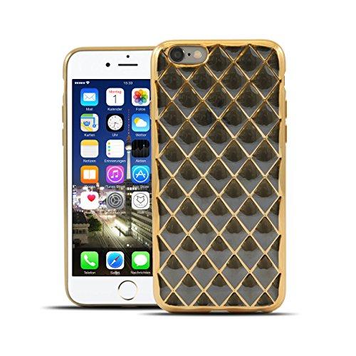 6 Case Prada Iphone (HULI Diamond Case Hülle Schwarz für Apple iPhone 6/6s Smartphone - Diamant Handyhülle aus TPU Silikon - Luxus Schutzhülle - sicherer Schutz Wabe Kaleidoskop)