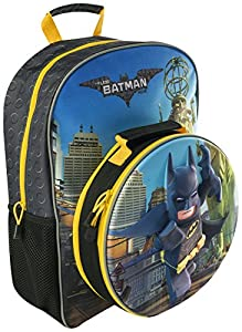 The Lego Batman Move 3d Childrens Large Backpack With Detachable Lunch Bag Holiday Trips 8345