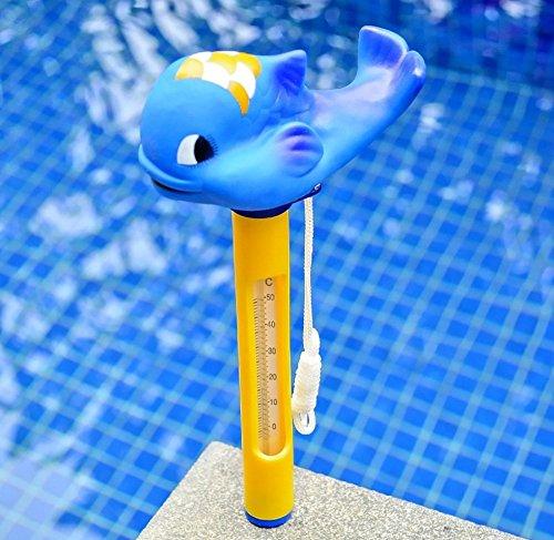 BIEE Floating Pool Thermometer Schildkröte, groß mit Schnur, für Outdoor / Indoor Schwimmbäder, Whirlpool, Spa, Jacuzzi und ()