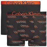 Calvin Klein Trunk 2PK, Boxer de Bain Homme, Schwarz (VCR Logo Black W/Tango WB Sxl),...