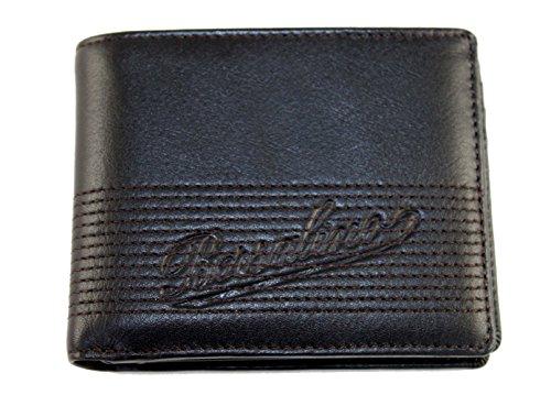 Borsalino Geldbörse Geldbeutel Portemonnaie im Geschenkbox Leder 0077 Schwarz (Borsalino Leder)