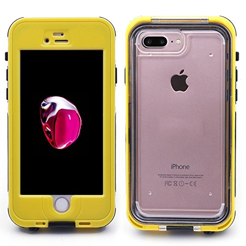 iProtect Apple iPhone 7 Plus Outdoor Case Schutzhülle Hartglas Shock- and Dirtproof in gelb Apple iPhone 7 Plus Case Wasserresistent Shockproof Gelb