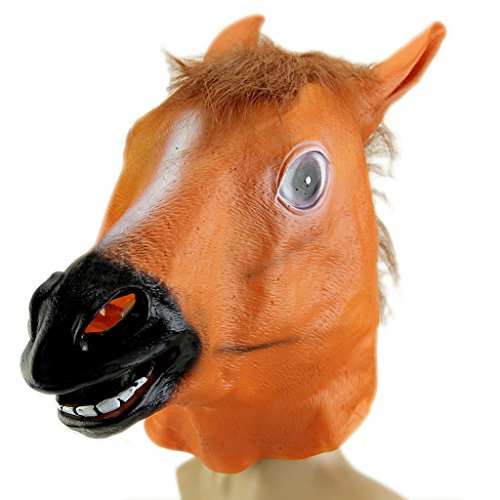 (Xuniu Lustige Tier Cosplay Pferdekopf Maske Kostüm Gangnam Stil Spielzeug Halloween Party)