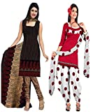 Araham Womens Synthetic Unstitched Dress...