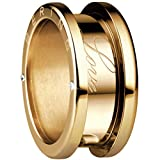 Bering Damen-Ring arctic symphony Außenring Love Edelstahl teilvergoldet Zirkonia weiß Gr. 56 (17.8) - 520-20-84