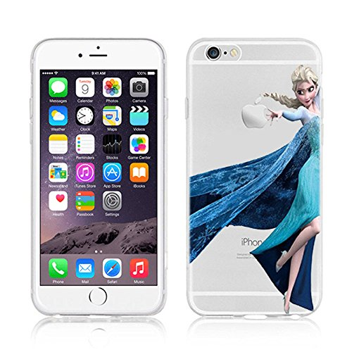 DISNEY FROZEN & PRINCESS CLEAR TPU SOFT CASE FOR APPLE IPHONE 7 PLUS OLAF ELSA 1