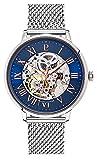 Pierre Lannier - 322B168 : Montre Homme Acier - Mouvement Automatique - Cadran Bleu