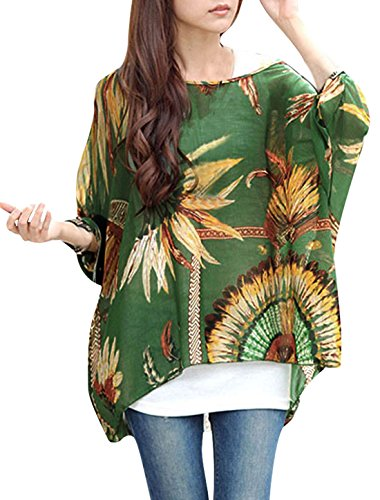 allegra-k-women-scoop-neck-feather-chiffon-plus-size-blouse-batwing-top-green-m