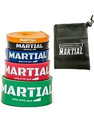 Bandas elásticas - perfectas para hacer ejercicios y entrenamientos - bandas PowerBand para tonificar todo el cuerpo - extensor elástico y Bodytrainer para tu entrenamiento