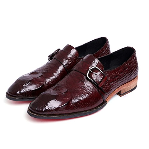 GRRONG Chaussures En Cuir Véritable Banquet En Cuir Pour Hommes D'affaires brown