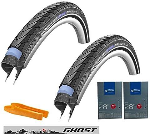 Schwalbe Reifen 40-622 Marathon Plus Set: 2x Fahrradreifen für Trekking-