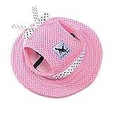 Pet Dog Hat, uxely Sommer Mesh atmungsaktiv Pet Sun Hat, Katzen und Hunde Sun Hat, wunderschöne Tiny Hund Prinzessin Gap