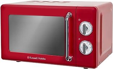 Russell Hobbs RHRETMM705R RETRO rot kompakte manuelle Mikrowelle