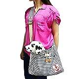 SAMGOO Mode Streifen Wollenstoff Haustier Tasche Hundetasche Pet Tragetasche für klein Haustier Katze Hunde Welpen