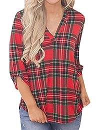 a835b9a086 Amazon.it: gonna scozzese donna - M / T-shirt, top e bluse / Donna ...