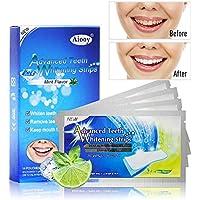 Aiooy 28pcs Tiras de Blanqueamiento Dental Tiras Blanqueadoras kit de blanqueamiento de dientes Bright White Strips Sabor a Menta