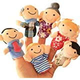 drasawee 6PCS Kinder Finger Familie Mitglied Puppets Spielen Spiel lernen Story Toy Baby Puppe