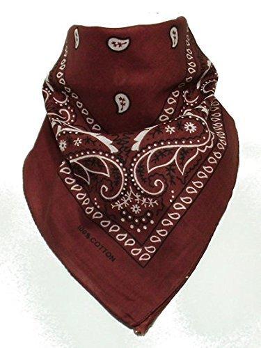 BOOLAVARD 100% Cotton 1pcs, 6pcs or 12pcs Pack Bandanas with Original Paisley Pattern Colour of Choice Headwear / Hair