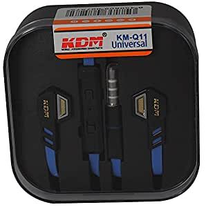 KDM 3.5 mm High Performance Earphones with Inline Universal Microphone and 1-button Call Suitable for All iPhones Samsung Mobiles Tablets MP3 Players and