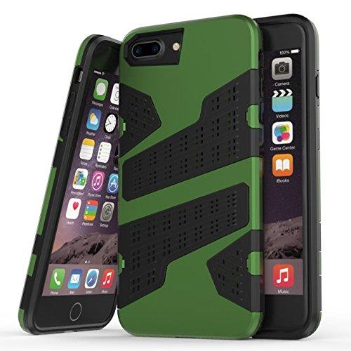 """iPhone 6 Plus 6S Plus Hülle,iPhone 7 Plus Hülle,Lantier 2 in 1 Kombi Rüstung mit Luftloch Design Stoßfestes leichtes Defender SchutzHülle für iPhone 6 Plus/6S Plus/7 Plus 5.5"""" Rot Green"""