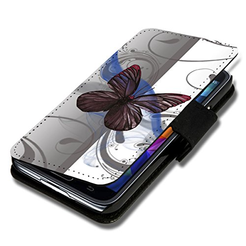 Book Style Flip Handy Tasche Case Schutz Hülle Schale Motiv Etui für Huawei Ascend Y550 - A42 Design9