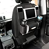 #3: oneOeightdeigns Car Auto Seat Back Multi Pocket Storage Bag Car Seat Organizer Holder Hanger (Black)