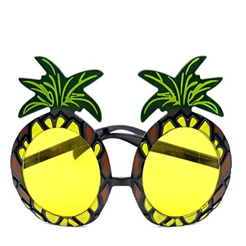 Tinksky Ananas Brillen Hawaii Frucht Augen Brille Sonnenbrille Sommer Fancy Frame für Strand Luau Party