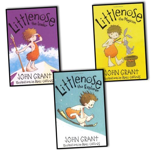 John Grant Little Nose 3 Books Collection Pack Set RRP: £11.97 (Littlenose the Explorer, Littlenose the Leader, Littlenose the Magician)