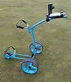 Yorrx® Slim Lion Pro 5 PLUS carrello da golf/Golftrolley/Golf Cart con molti accessori (blu)