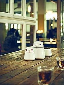 QDO Boîte à thé Birdie 400ml-Orange, Porcelaine, Blanc et Orange