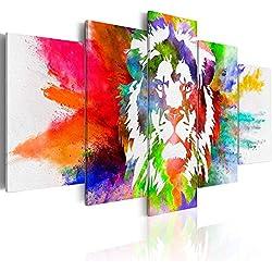 murando - Cuadro en Lienzo 200x100 cm - Abstraccion - Impresion en calidad fotografica - Cuadro en lienzo tejido-no tejido - Animale Le-n colorido g-C-0019-b-o