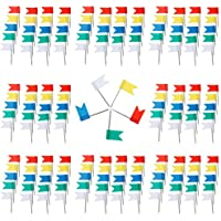 Anpro 200 Piezas Color de la Bandera de uñas para los mapas, Contacto de gráfico