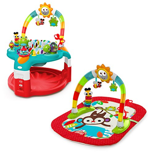 Bright Starts Silly Sunburst - Centro de actividades y tapete 2-in-1