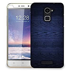 Snoogg Dark Blue Wood Wall Designer Protective Phone Back Case Cover For Coolpad Note 3 Lite