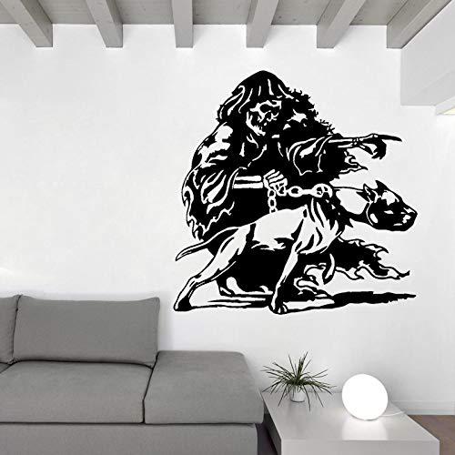 50 CM * 50 CM Personalisierte Pitbull Hundekette Schädel Wandaufkleber Aufkleber PVC Zimmer Das Schlafzimmer