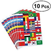 VORCOOL Pegatinas de Bandera Nacional 2018 Copa del Mundo de Fútbol Top32 Países Pegatinas de Papel