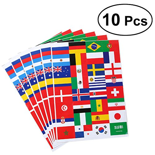VORCOOL 10Blätter mit 2018Fussball wm Top 32Länder Flagge Papier Sticker Fasching Sport Events Body Aufkleber (Fußball-wm-sticker)