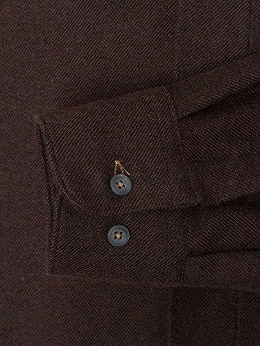 CASAMODA SPORTS Herren Businesshemd Regular Fit bügelleicht Dunkelbraun