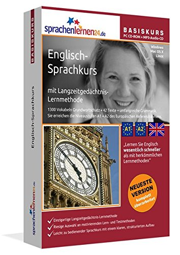 Sprachenlernen24.de Englisch-Basis-Sprachkurs: PC CD-ROM für Windows/Linux/Mac OS X + MP3-Audio-CD für MP3-Player. Englisch lernen für Anfänger. (Mp3-audio-buch-player)