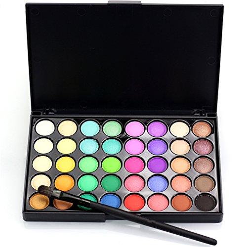 Palette de Fard à paupières, FantasyDay 40 Couleurs Professionnelle Shimmer Matte Ultra Pigmenté Bases de Ombre à paupières Maquillage Palette Cosmétique Set - Eyeshadow Makeup Beauty Kit #2