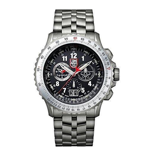 luminox-f-22-raptor-orologio-da-polso-al-quarzo-uomo-cinturino-in-titanio-argento
