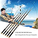 Lorenlli Portable Canne à pêche Canne à pêche en Fibre de Carbone Truite Carpe...