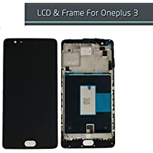 Generic New ONEPLUS THREE /ONEPLUS 3 LCD Display Touch Screen Digitizer Assembly With Frame Black