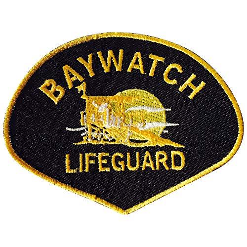 Baywatch Lifeguard schwarz Logo Zum Aufbügeln Gesticktes Patch