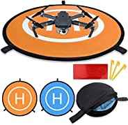 Drones Landing Pad, Portable Foldable with Double Sided Drone Landing Pad, Universal Waterproof 55cm/21.65'
