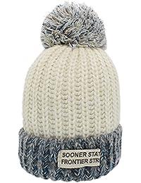 694ba131bd95b Sombreros de invierno para mujer - YOPINDO Bobble sombrero para mujer Tejer  gorros de lana Snowboard