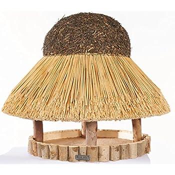 vogelhaus sylt mit reetdach rund 74 cm durchmesser ohne st nder haustier. Black Bedroom Furniture Sets. Home Design Ideas