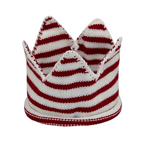 Yvelands Neugeborene Kinder Caps Baby Crown gestrickt Geburtstag Hut Fotografie Zubehör