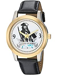 Disney Men's 'Pirates' Quartz Metal Casual Watch, Color Black (Model: WDS000378)